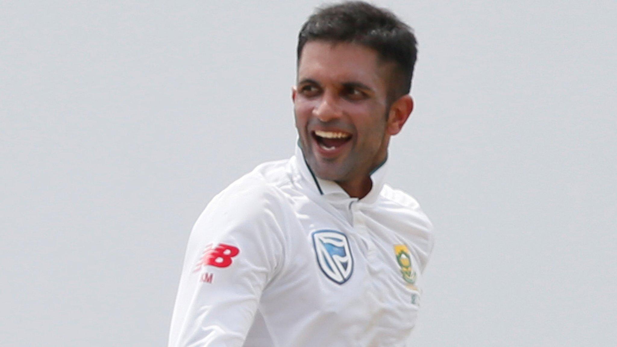 Keshav Maharaj: South Africa spinner takes 9-129 against Sri Lanka