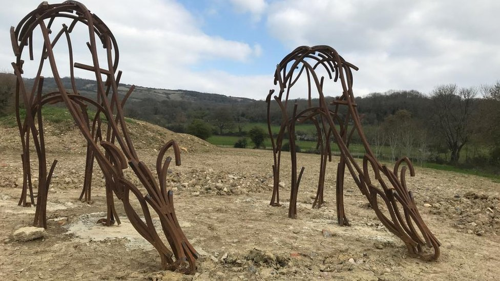 Cheltenham crematorium sculptures funded by recycled metal body parts