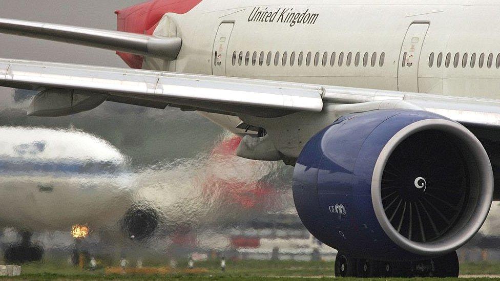 Passenger jet at Heathrow