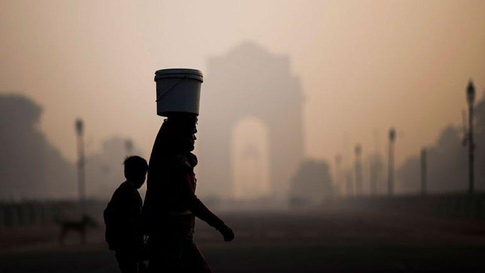 التلوث في دلهي