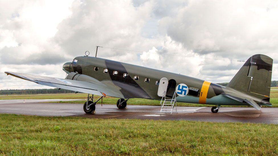 Veteran DC-2 transport aircraft 'Hanssin-Jukka' of the Finnish Air Force has been restored for museum display.