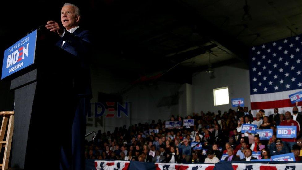 Joe Biden at a 2020 campaign event