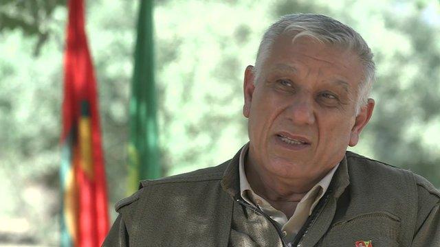 Cemil Bayik, leader of the PKK