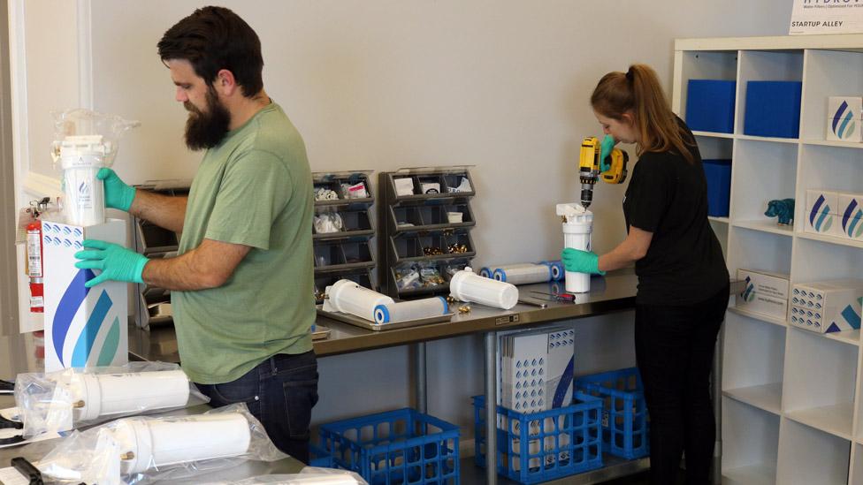 Hydroviv staff at work