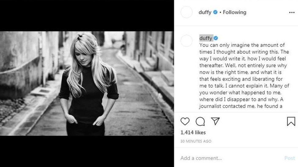 Post Dafi na Instagramu