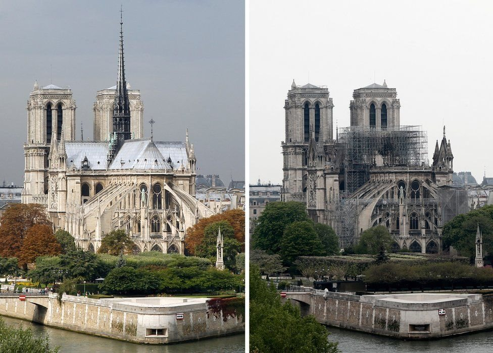 Notre Dame antes y después