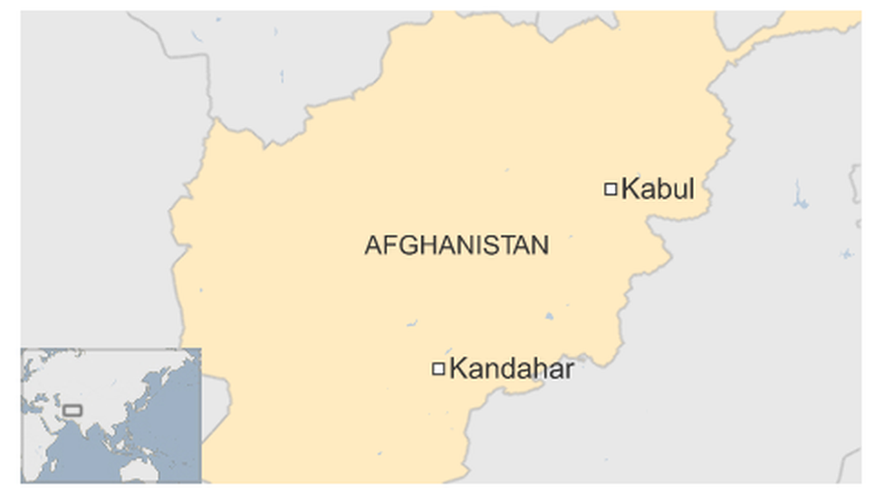Map of Kandahar in Afghanistan