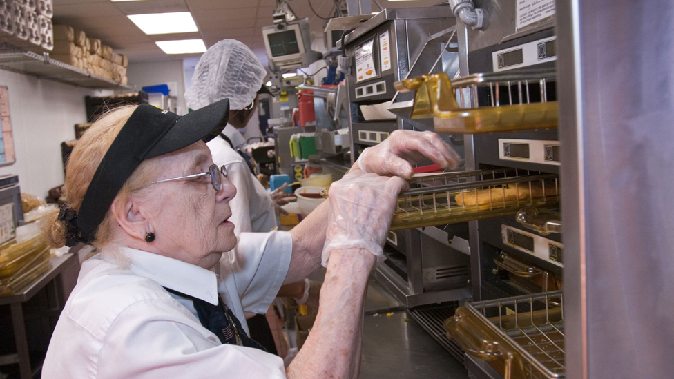 An 80-year-old worker at McDonalds restaurant in Michigan