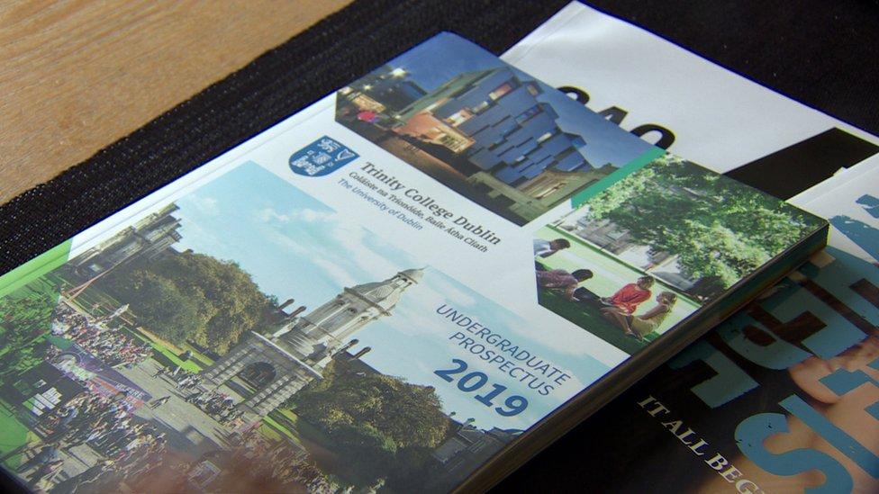 A prospectus for Trinity College in Dublin