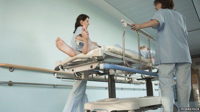 Nurses in a hospital