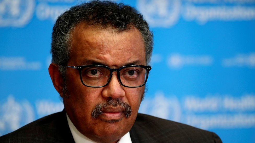World Health Organization head Dr Tedros Adhanom Ghebreyesus