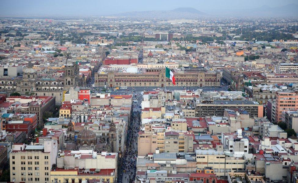 Vista aérea de Ciudad de México.