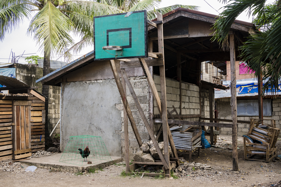 A basketball hoop and backboard in the Visayan Region of the Philippines