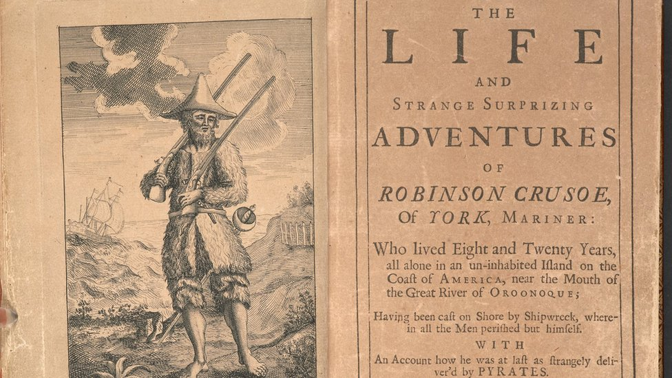 First edition of 18th Century novel Robinson Crusoe