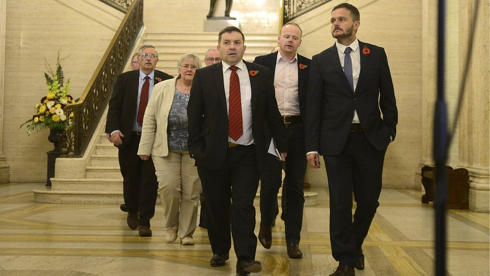 Robin Swann and his UUP colleagues