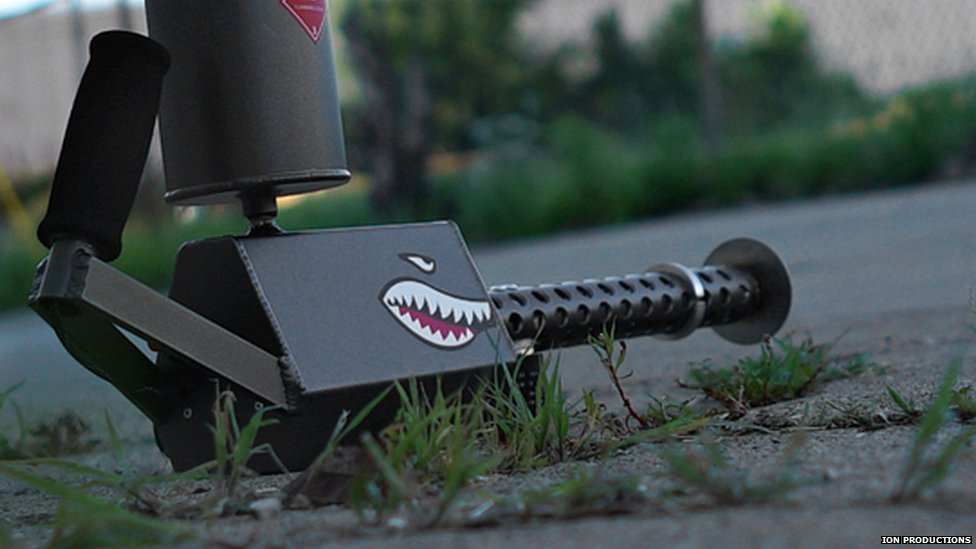 XM45 has a teeth grin painted on it