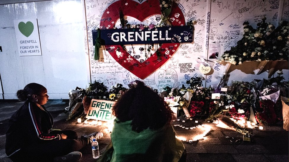 Anniversary memorial to Grenfell victims