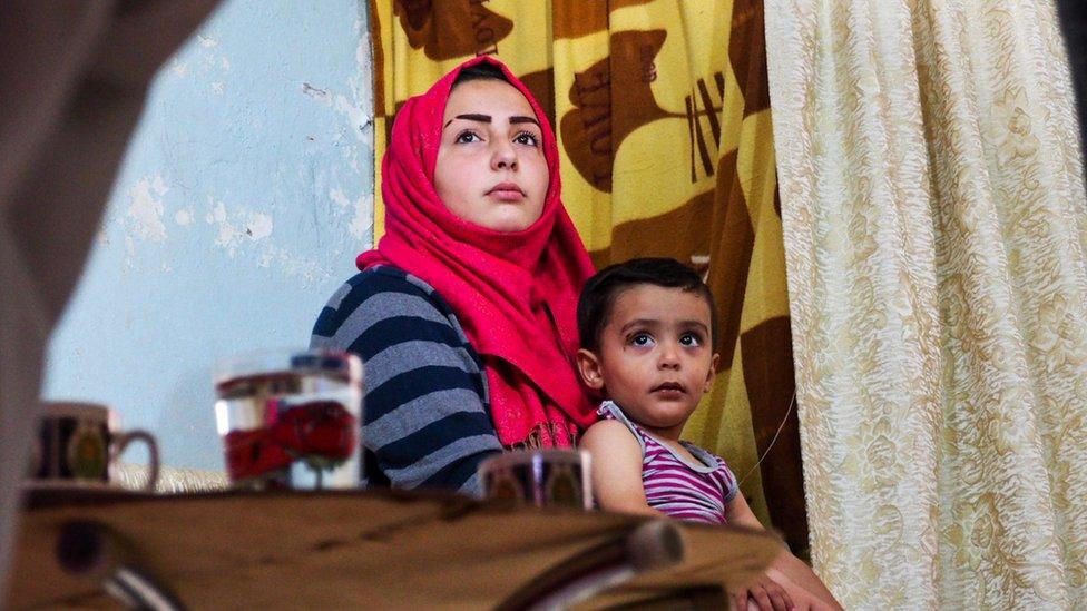 Suriye'den Ürdün'e dönen bir aile