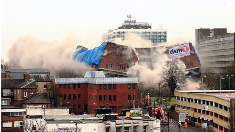 View of Greyfriars building collapse