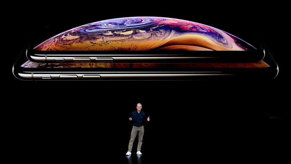 Tim Cook, director ejecutivo de Apple durante la presentación del último modelo de la compañía el pasado miércoles.