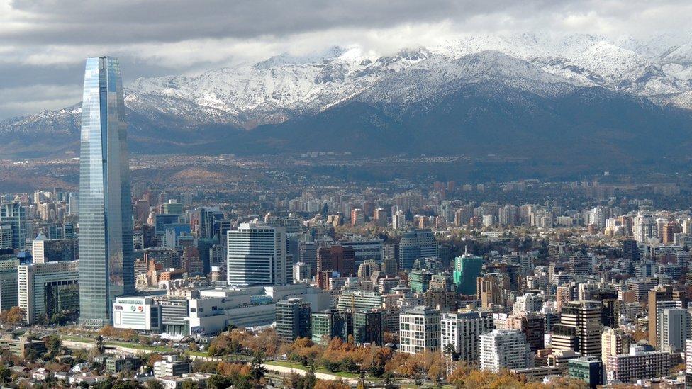 Vista de Santiago.