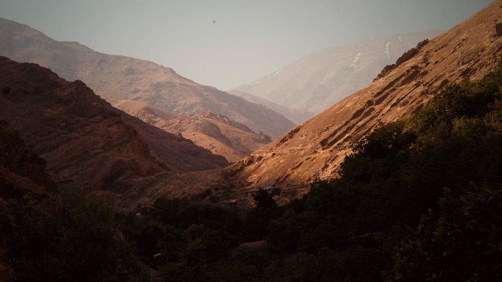 Tehran hills