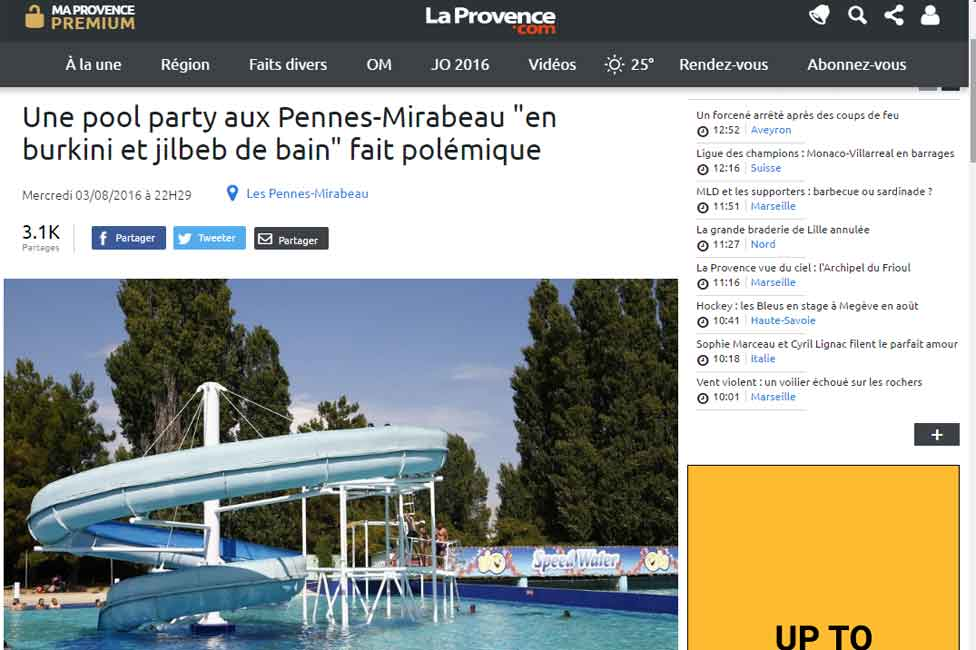 Screengrab from French La Provence news website