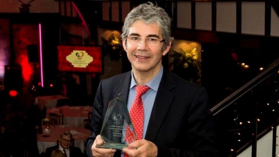 David Nott after winning the Robert Burns Humanitarian Award