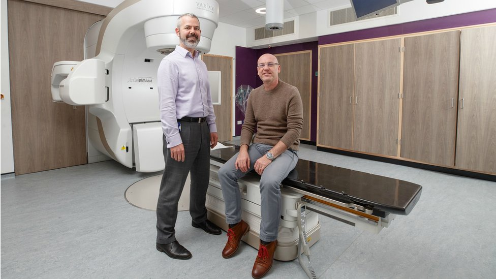 Professor Anthony Chalmers from the Cancer Research UK Glasgow Centre with Jak Deschner