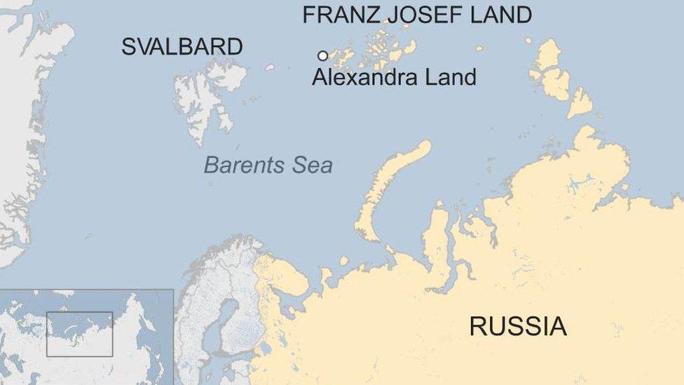 Franz Josef Land map