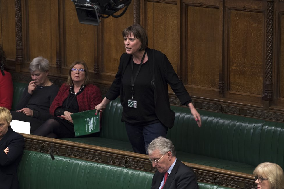 MP Jess Phillips speaks during the Prime Minister's Statement on the EU Council