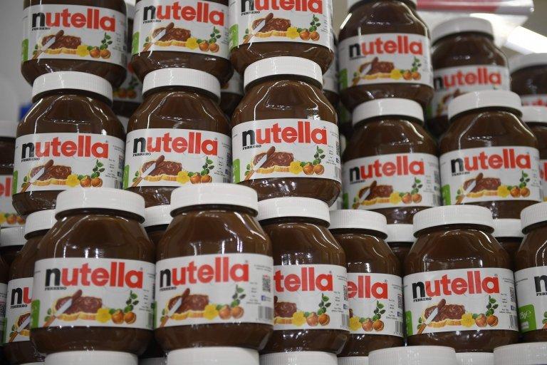 Nutella kavanozları