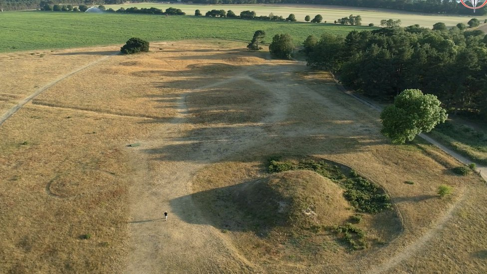 It is thought the ship was hauled to the Sutton Hoo site from the nearby River Deben