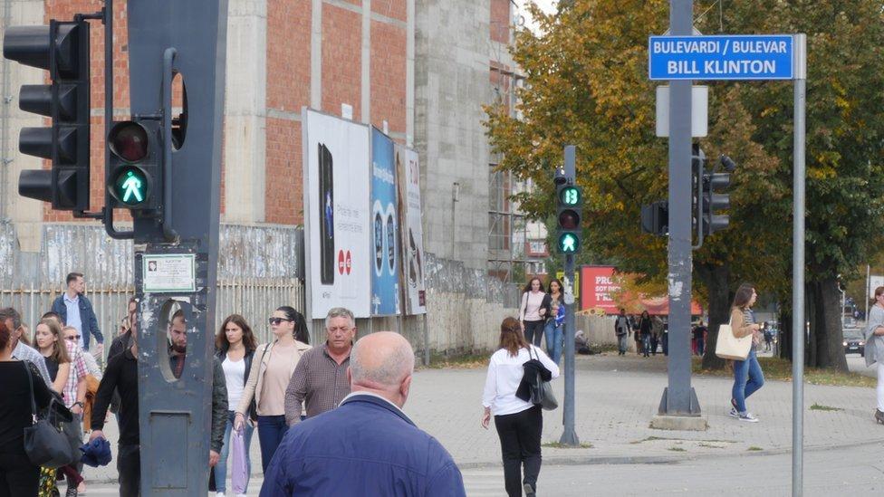 Bulevardi Bill Klinton in the Kosovo capital, Pristina
