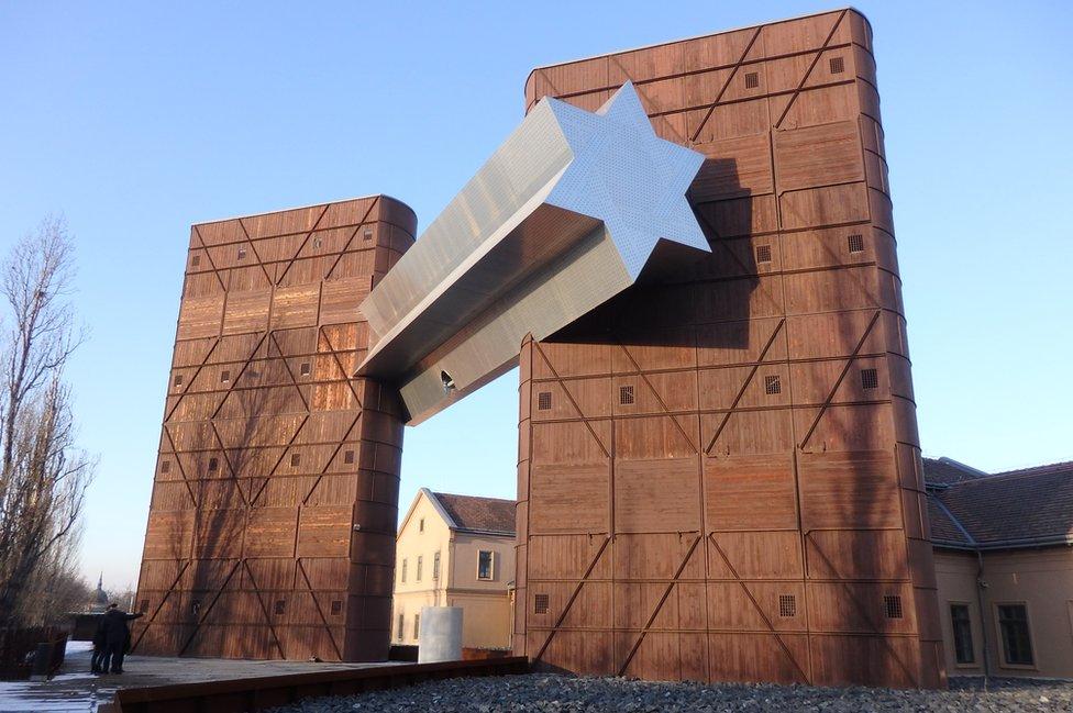 Davidova zvezda na Kući sudbine u Budimpešti