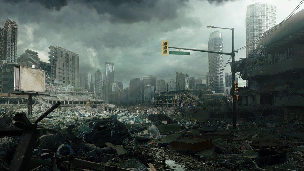 Ciudad destrozada