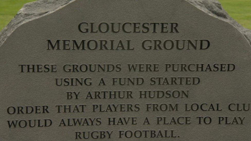 Tribute to fallen Gloucester rugby players