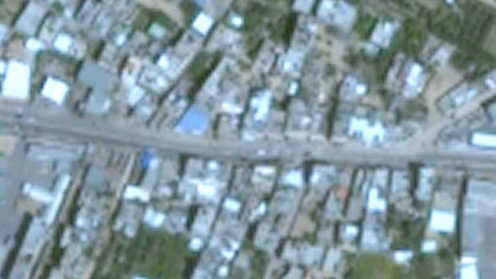 Imagen de Gaza vista con Google Earth tomada en 2016