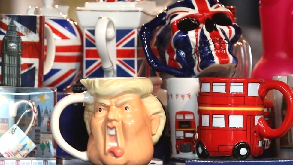 Donald Trump's UK visit: Protests and praise