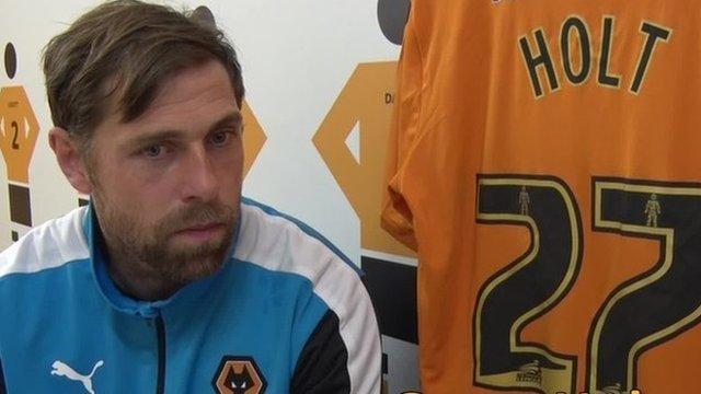 Wolves' on-loan striker Grant Holt