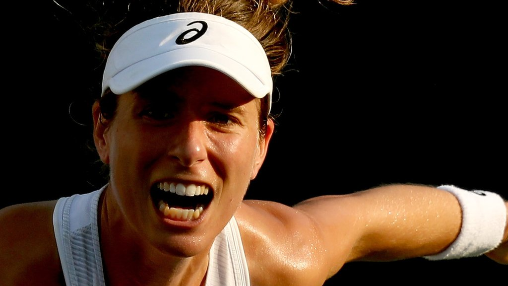 Konta beaten by Sabalenka in first round in Cincinnati