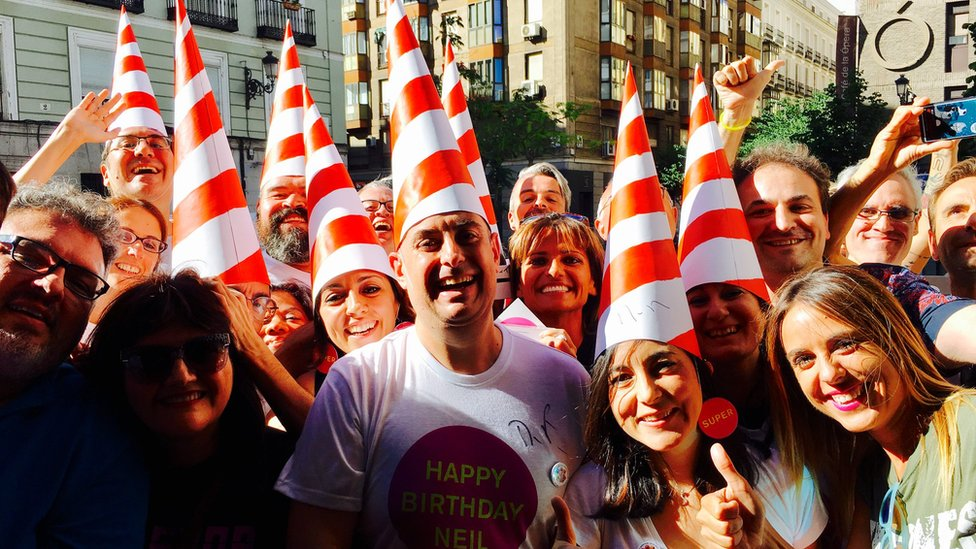 Pet Shop Boys fans in Madrid