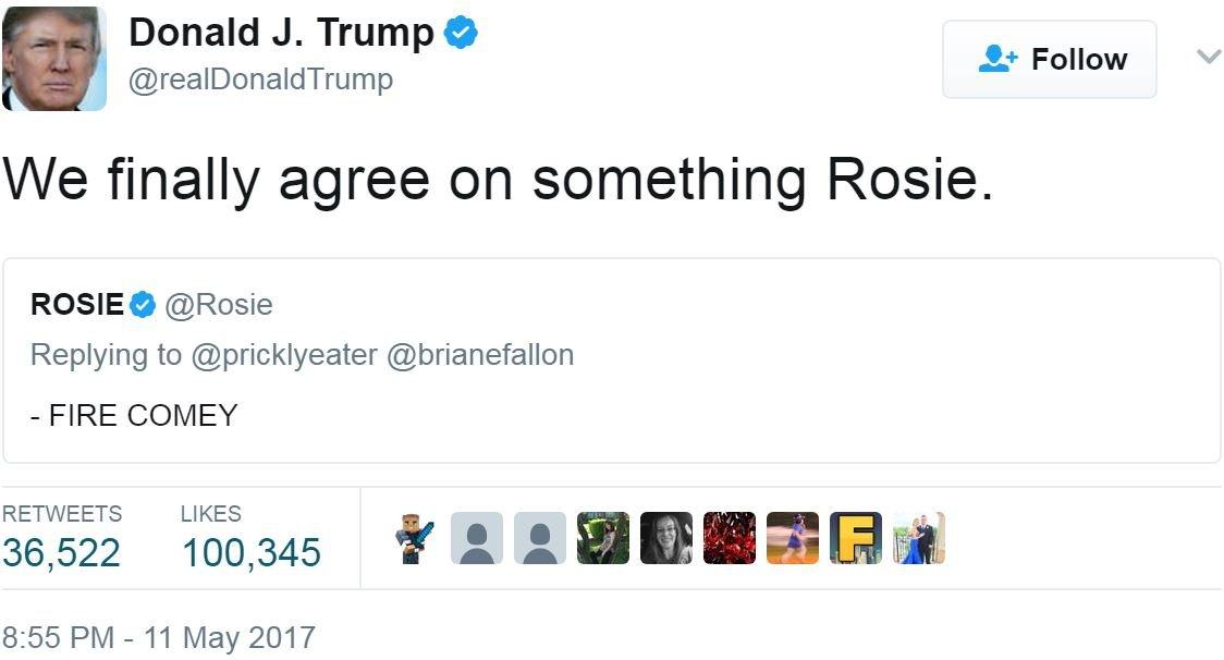 Screen grab of tweet by @realDonaldTrump