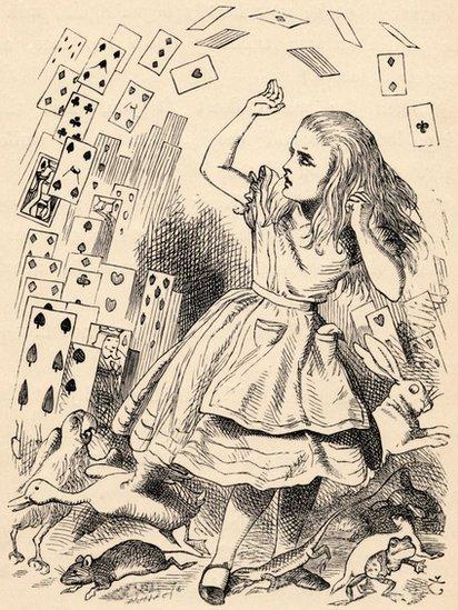 Ilustración de Alicia en el país de las maravillas.