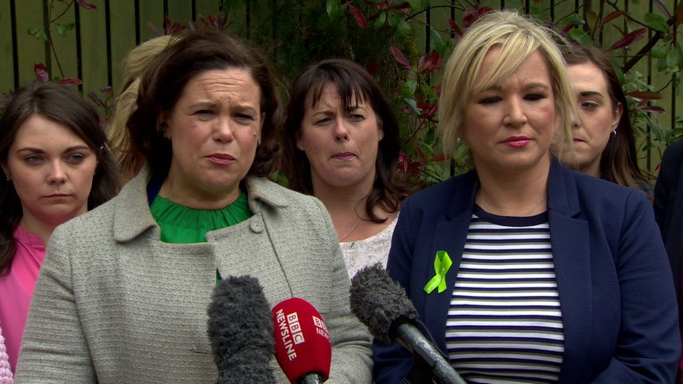 Mary Lou McDonald, seen here with Sinn Féin's Stormont leader Michelle O'Neill, welcomed the comments by European leaders
