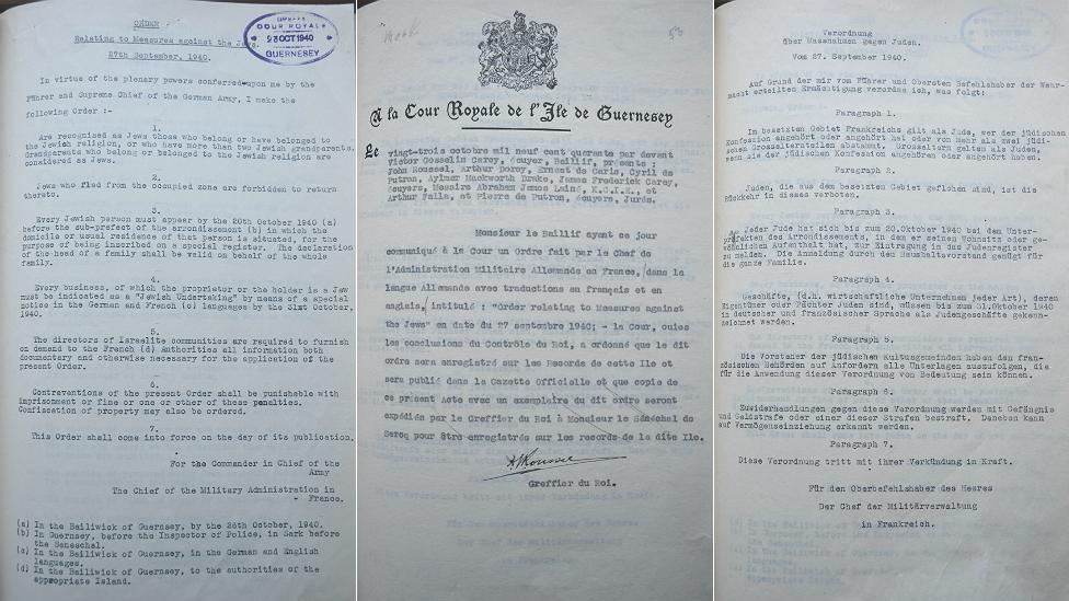 Anti-Jewish orders in German and English