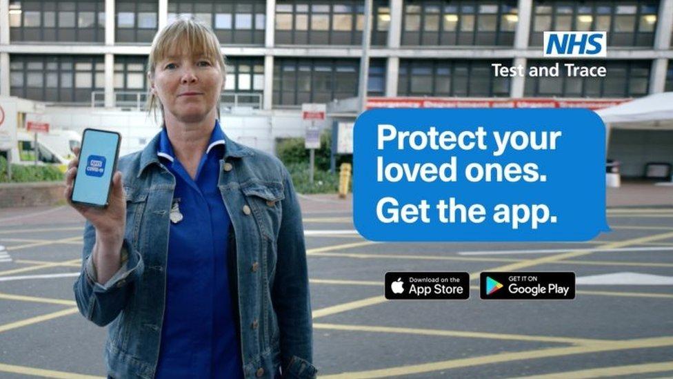 Coronavirus app advert