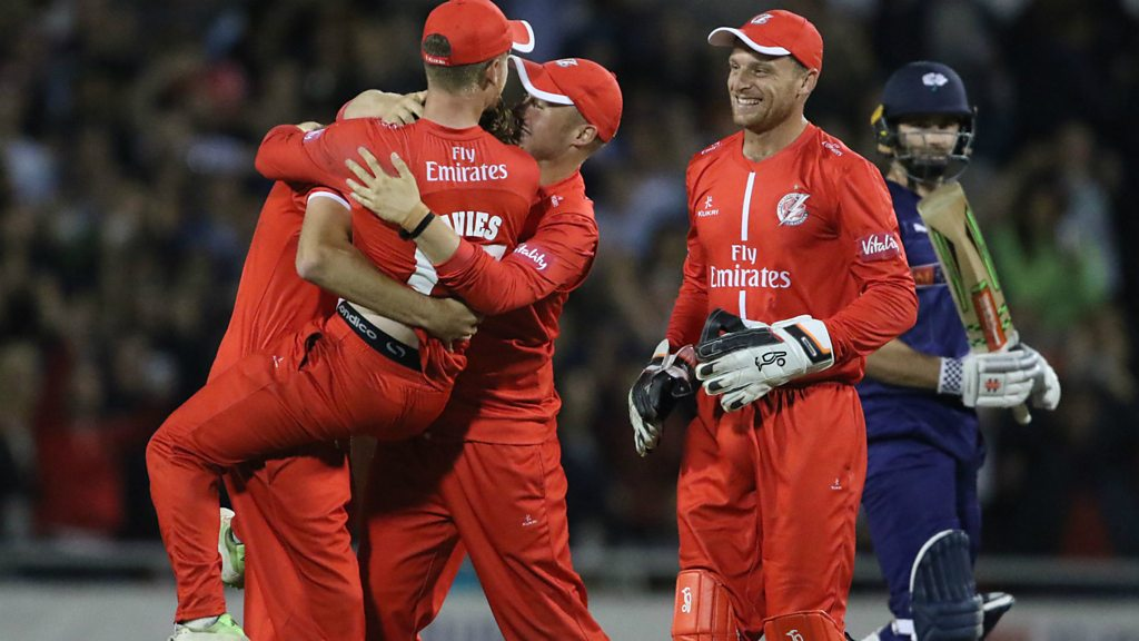 T20 Blast: Yorkshire fall one run short chasing 176 against Lancashire