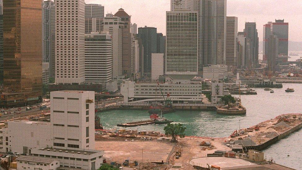 填海前夕的添馬艦船塢(28/7/1995)