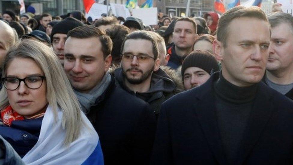 Alexei Navalny ally Lyubov Sobol 'held after raid' thumbnail